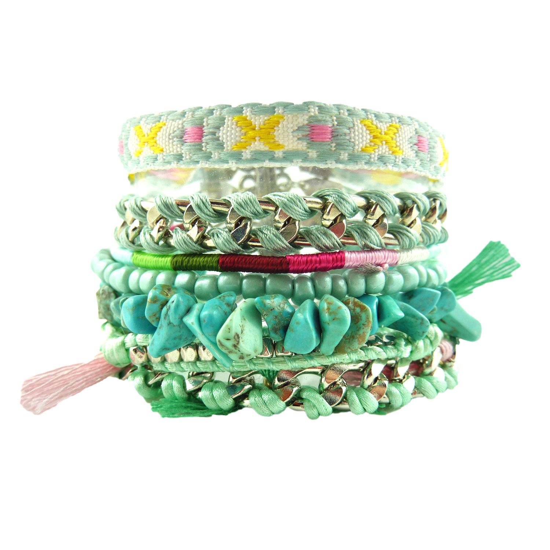 bracelet br silien multiple ethnique pierre lapi lazuli vert emeraude. Black Bedroom Furniture Sets. Home Design Ideas